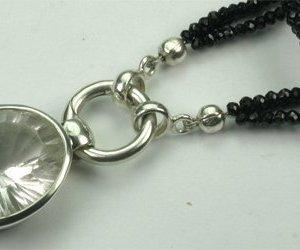 Set Spinell und Bergkristall oval