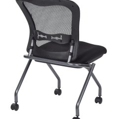 Armless Folding Chair Cool Game Chairs Deluxe With Progrid® Back, Casters And Titanium Finish (2-pack) - Ergoback.com