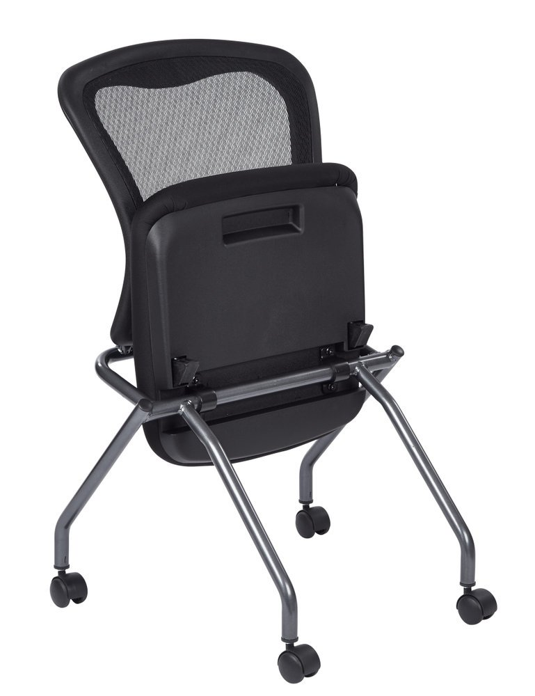 Deluxe Armless Folding Chair With ProGrid Back Casters