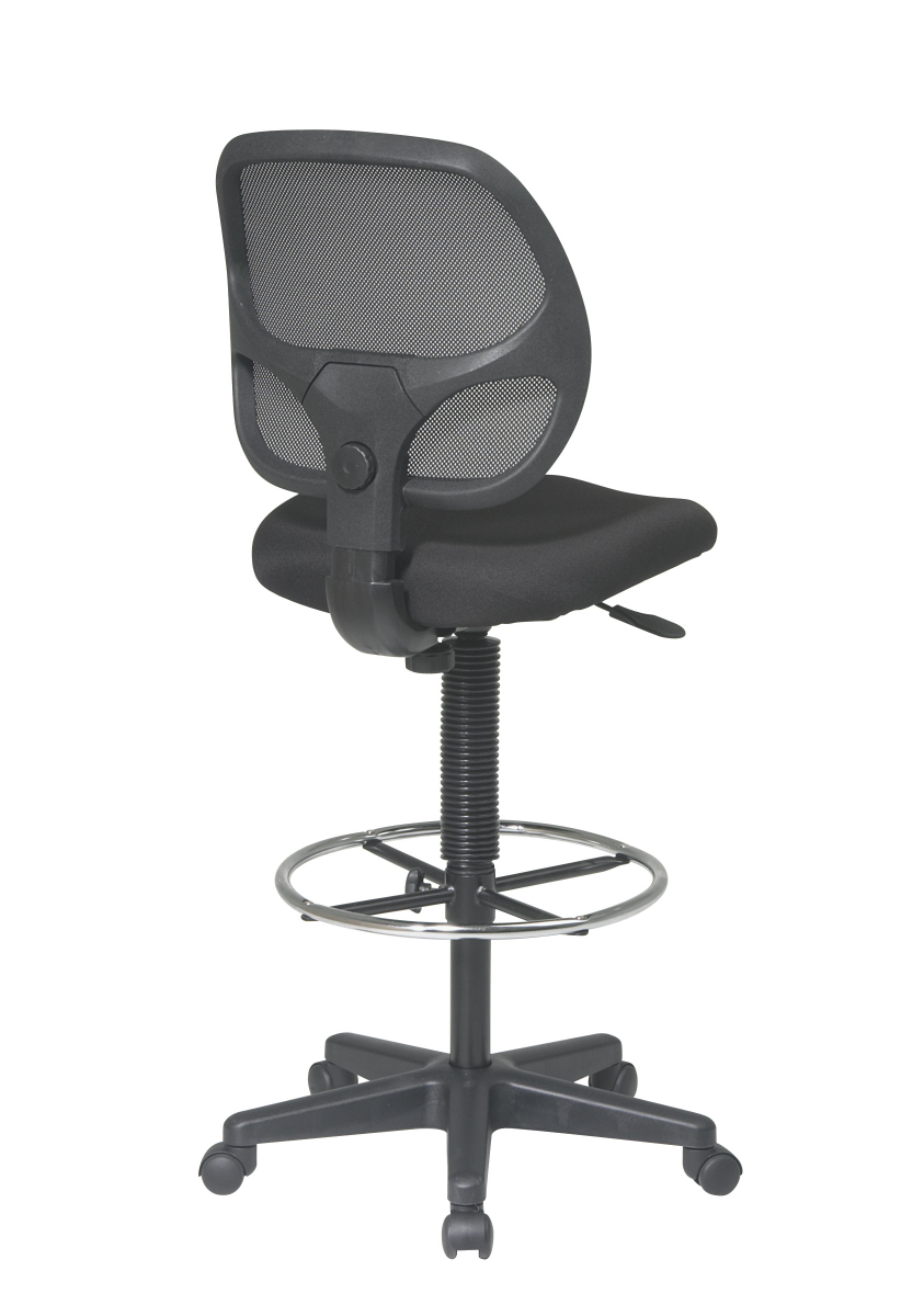 Deluxe Mesh Back Drafting Chair with 20 Diameter Foot