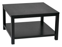 """Merge 30"""" Square Coffee Table Black Finish"""