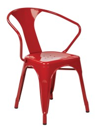 """30"""" Metal Chair (2-Pack) (Red)"" - Ergoback.com"