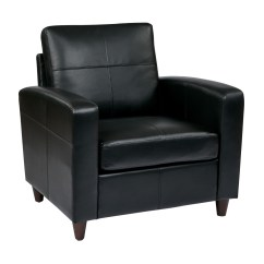 Black Bonded Leather Chair Cover Rentals Ny Club With Espresso Finish Legs