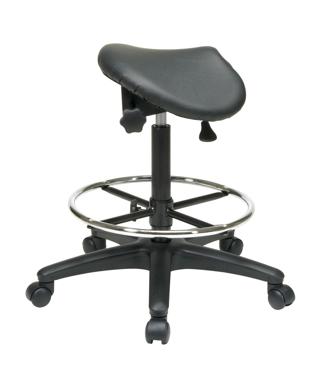 stool chair on wheels bean bag chairs for teens backless with saddle seat dual wheel carpet casters