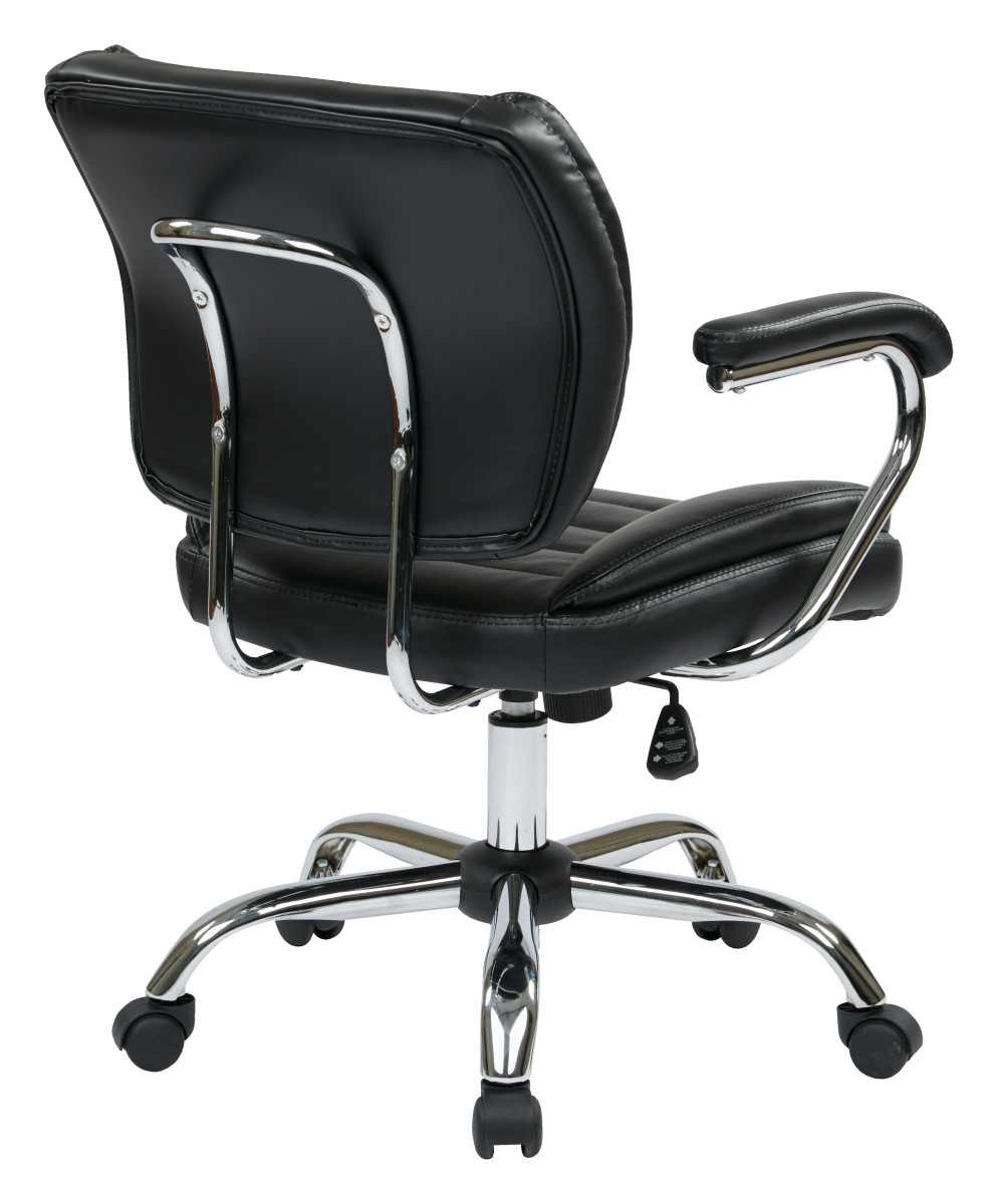 Task Chair Faux Leather (Black)