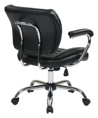Task Chair Faux Leather (Black) - Ergoback.com