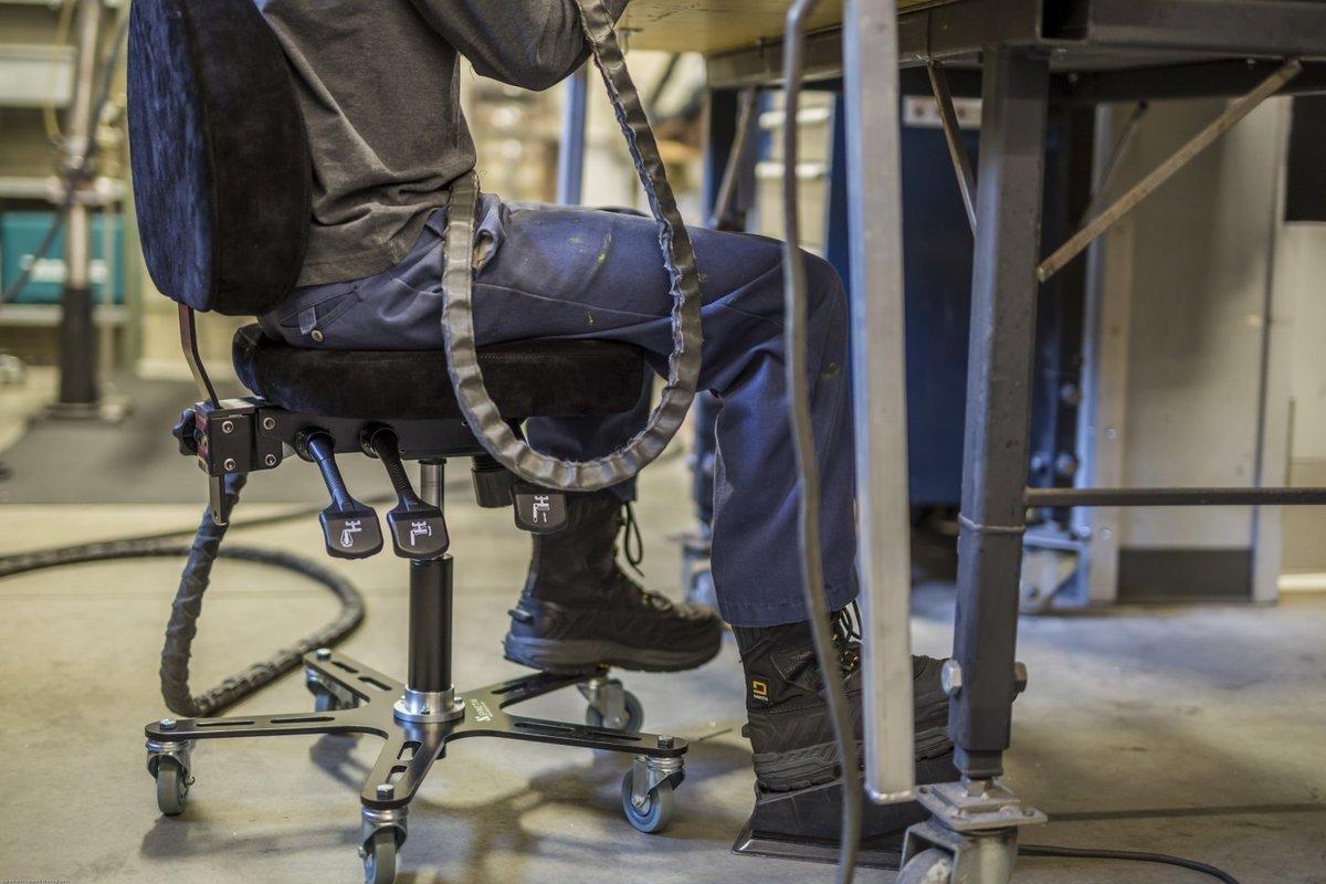 Synetik SF180 Welding Chair Steel Base Rubber Casters