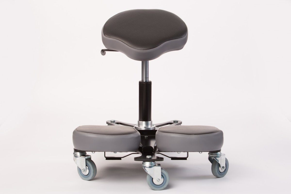 chair revolving steel base with wheels salon accessories synetik stag4 task casters brake
