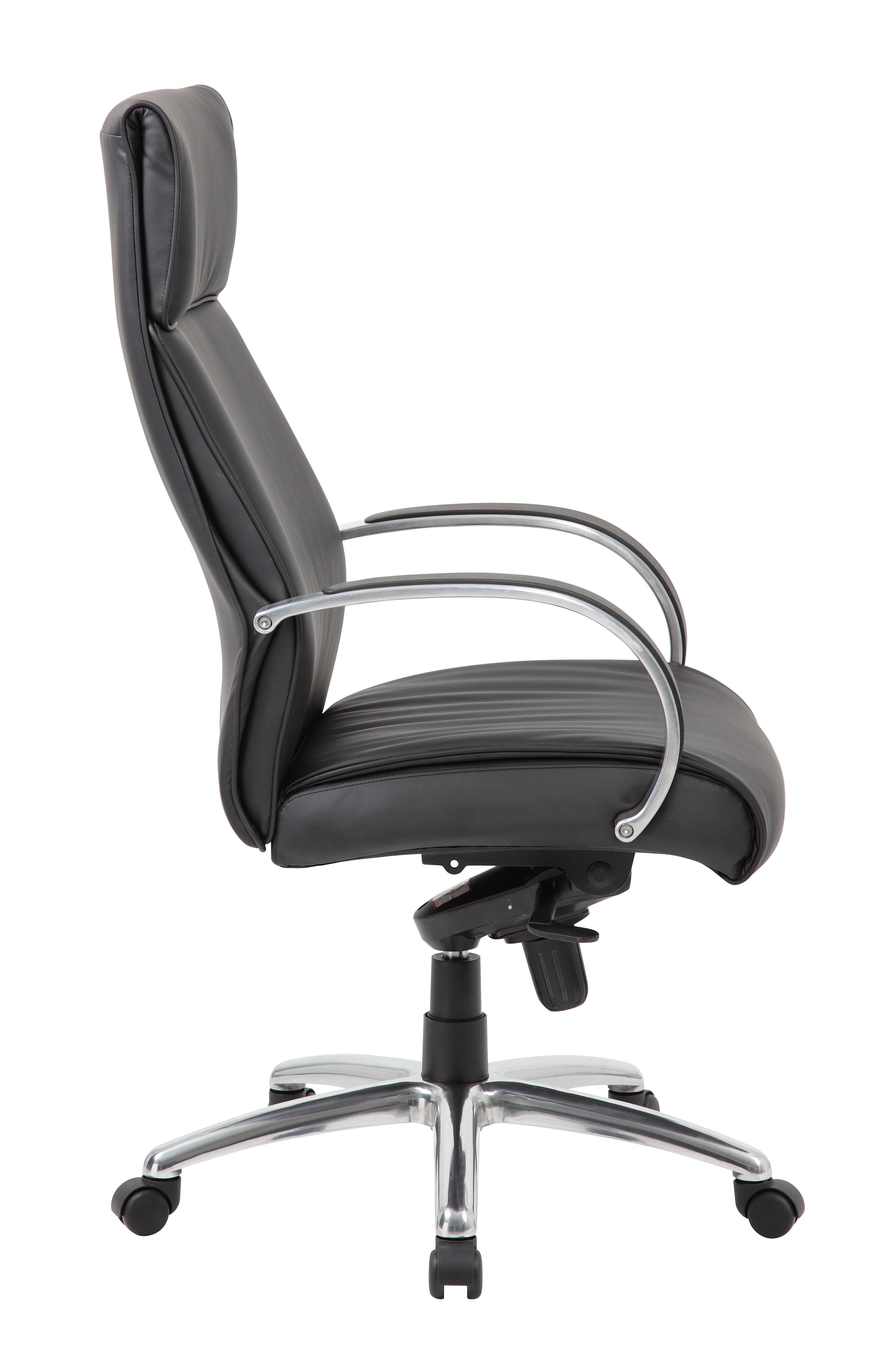 desk chair knees small gaming boss high back black upholstery executive with knee