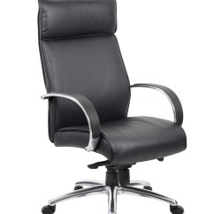 Desk Chair Knees Fishing Trolley Boss High Back Black Upholstery Executive With Knee