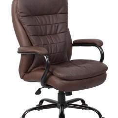 Plush Leather Chair Outdoor Wicker Chairs Nz Boss Heavy Duty Double Leatherplus B991