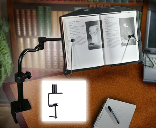 Levo Desktop Bookholder by MTM  Detailed Specification Sheet