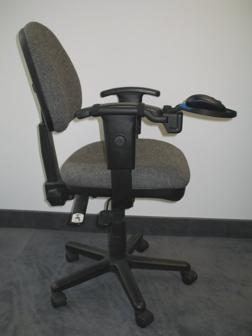 posture promoting chair bedroom round teardrop mounted mouse tray by dexterity platforms - detailed specification sheet
