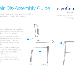 Ergonomic Chair Instructions Outdoor Wicker Rocking Canada Guest And Stacker Disassembly Ergocentric