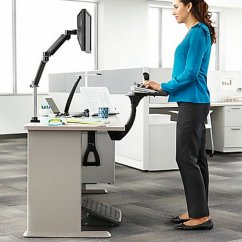 Ergonomic Chair Keyboard Position High Back Accent Chairs Canada 3m Akt180le Adjustable Under Desk Mount Tray Sit Stand Easy Adjust