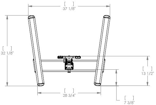 Chief MFC6000B/MFC6000S Medium Lightweight Mobile Cart (30