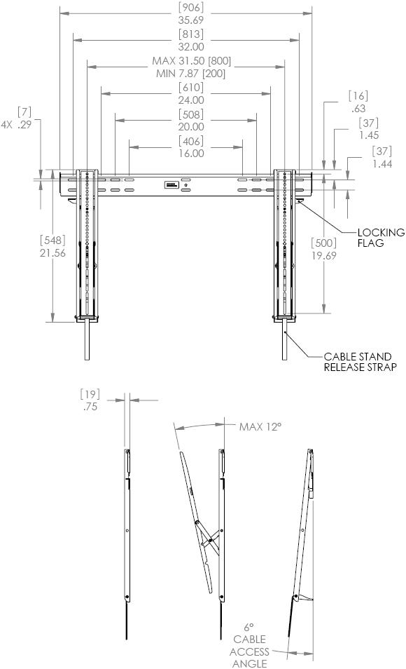 Chief KITLTTU522 Large Thinstall Flat Panel Tilt Mounting Kit