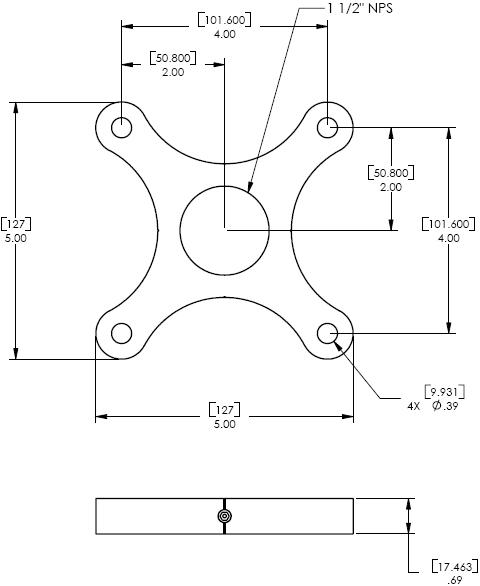 Chief CMA101 or CMA101S or CMA101W Designer Ceiling Plate