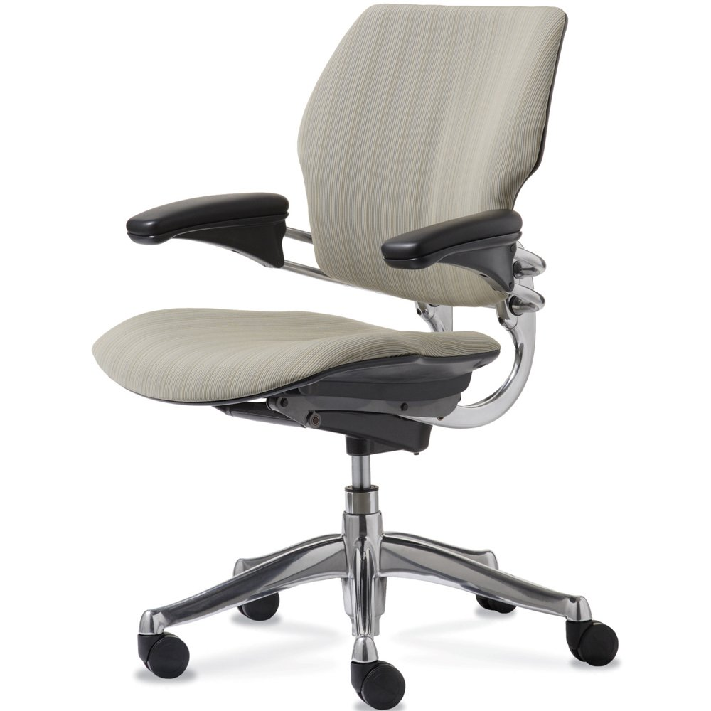 freedom task chair with headrest lazy boy recliner humanscale ergonomic office side view