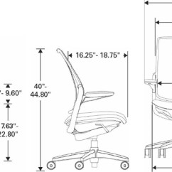 Diffrient Smart Chair Portable High Aldi Humanscale Ergonomic Mesh Task Technical Drawing For