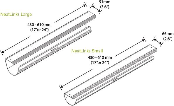 Humanscale NL17S or NL17L or NL24S or NL24L Cable Management
