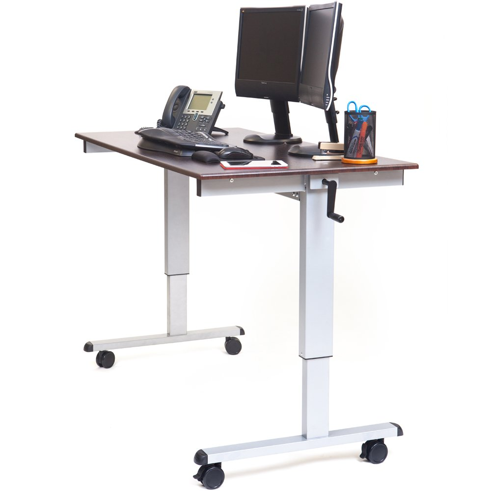 Luxor STANDUPCF60DW 60 Crank Adjustable Stand Up Desk