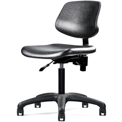 neutral posture chair stretching gym graphite urethane lab healthcare task cleanroom