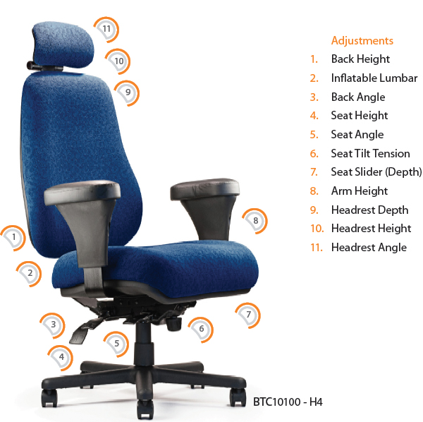 tall desk chairs with backs outside plastic neutral posture btc10100 big ergonomic task office chair and