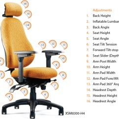 Ergonomic Chair Description Ultrasound Neutral Posture Xsm Extra Small Executive Office Task