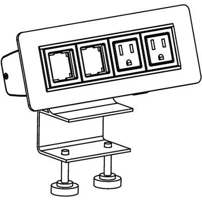 Workrite 95302 Sierra Above Desk Power/Data Supply