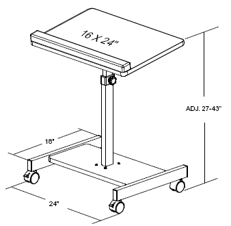 Balt 43062 Scamp Height Adjustable Laptop Stand