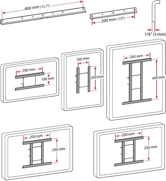 Ergotron 97-474 VESA (400 x 200 mm) Bracket Adaptor Kit