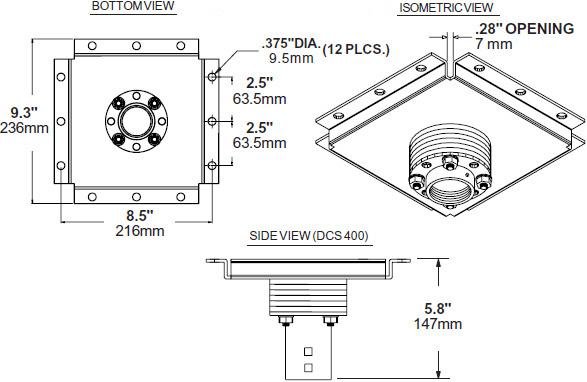 Peerless DCS400 Multi-Display Heavy Duty Ceiling Plate