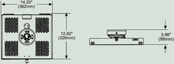 Peerless PSMU-PRS Universal Projector Security Mount up to