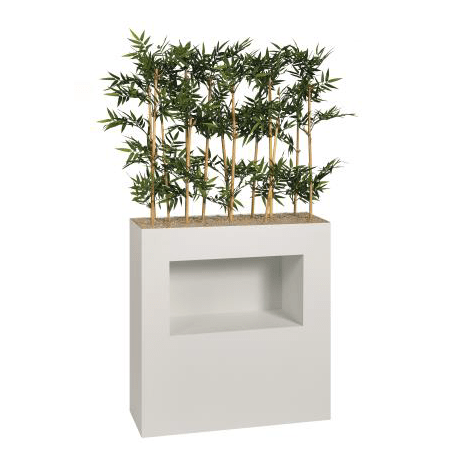 jardiniere haute niche bambous h 90 cm