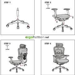 Ergonomic Chair Settings And Ottoman Slipcovers Ergohuman Manual Assembly Instructions