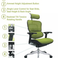 Office Chair Armrest White Dining Covers Australia Ergohuman Manual Assembly Function Controls