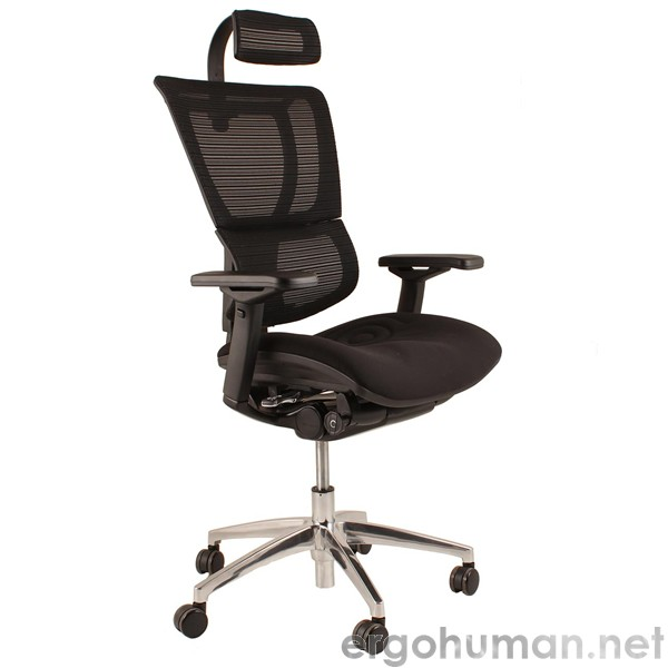 add headrest to office chair rattan round table 6 chairs mirus mesh with and black frame ergohuman