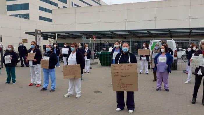 Ισπανία : Απεργούν οι εργαζόμενοι στην καθαριότητα στα νοσοκομεία