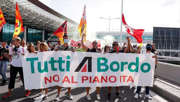 Κινητοποιήσεις των εργαζομένων στην Alitalia