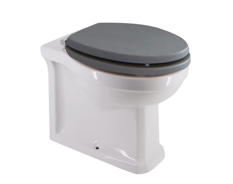 Cv3000 421 Holborn Wooden Soft Close Toilet Seat Dusty Grey
