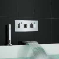 Concealed Thermostatic Shower Mixer Waterfall Bath Filler ...