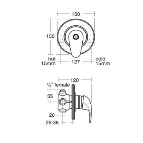 Ideal Standard Trevi Blend Manual Built In Shower Valve