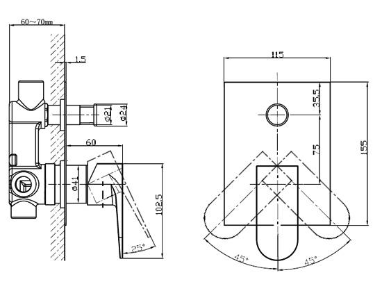 Crosswater Modest Manual Shower Valve