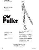 3-Ton CM Series 640 Come Along Lever Hoist