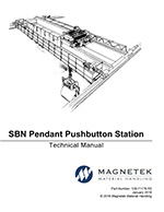 6-Button Magnetek SBN-6-WA Pendant All Single-Speed