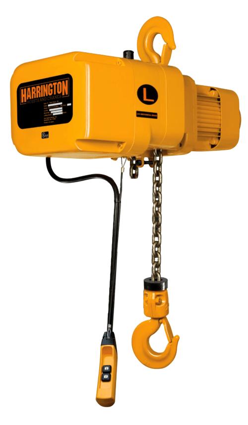 small resolution of harrington ner electric chain hoist