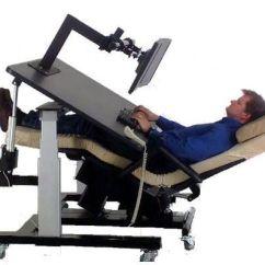 Ergonomic Chair Desk And Computer Setup Upholstered Folding Chairs Diy Zero Gravity Workstation 1