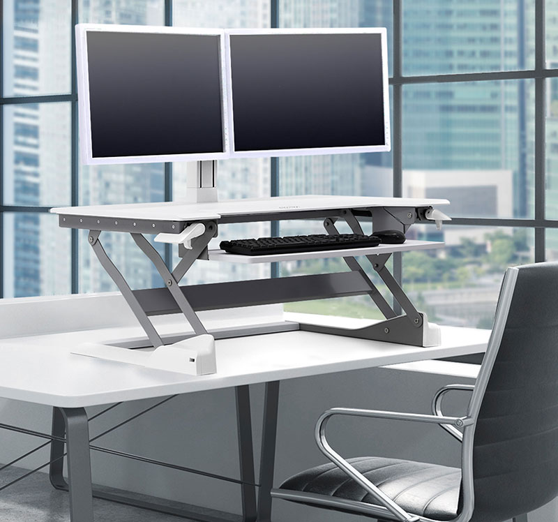 Tabletop Pedestal  Arm Desk Converter Solutions  Ergotron