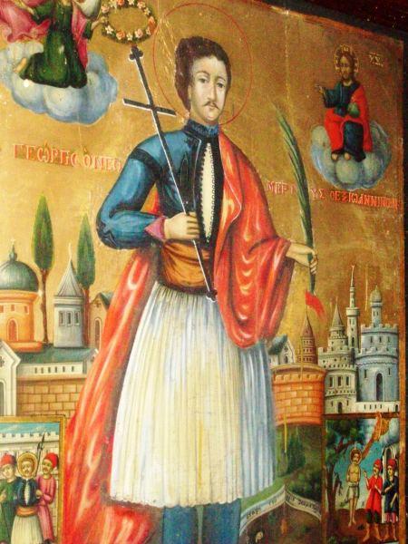 27-Edirnekapı Aya Yorgi Kilisesindeki Yanyalı Yeniz Aziz Georgiosun İkonası